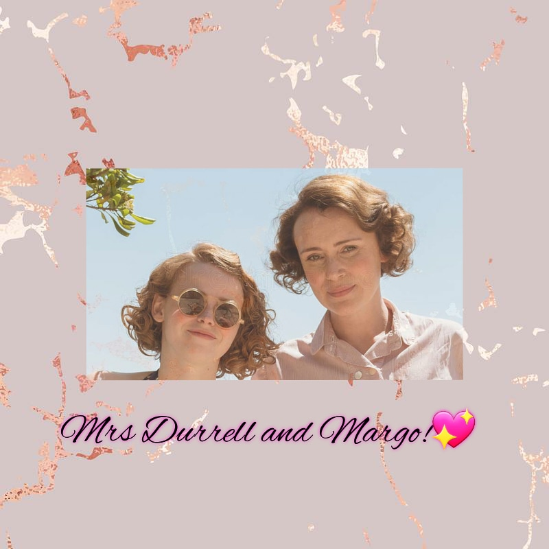 ᴍʀꜱ ᴅᴜʀʀᴇʟʟ ᴀɴᴅ ᴍᴀʀɢᴏ!#LouisaDurrell #mrsdurrell #MargoDurrell #thedurrells #keeleyhawes #daisywaterstone #motheranddaughter #love #actress @misskeeleyhawes @daisywaterstone pic.twitter.com/zNWqW8r38D