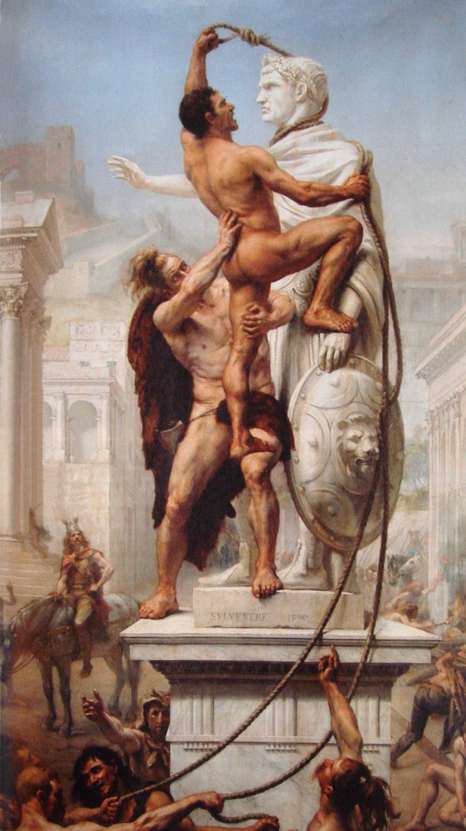 I'd like to see this world when/if the Pax #Americana is gone. In reality, i'd not like to see it, neither would those hypocrites, who intentionally or not, directly or indirectly, work for that cause.  The Sack of #Rome by the #Barbarians by Joseph-Noël Sylvestre: https://t.co/67GlVKldFI