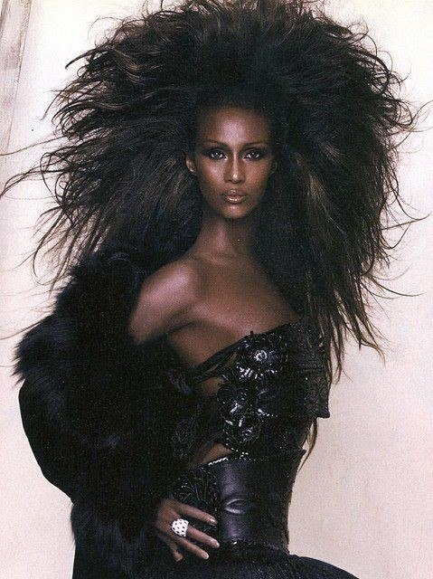 Iman. Establishing herself as a supermodel in the 1970s, she became an almost instant success in the fashion world. She became a muse for dozens of high fashion designers, including Gianni Versace, Calvin Klein, Yves Saint Laurent and Issey Miyake. <br>http://pic.twitter.com/9Cvi6cm3lt