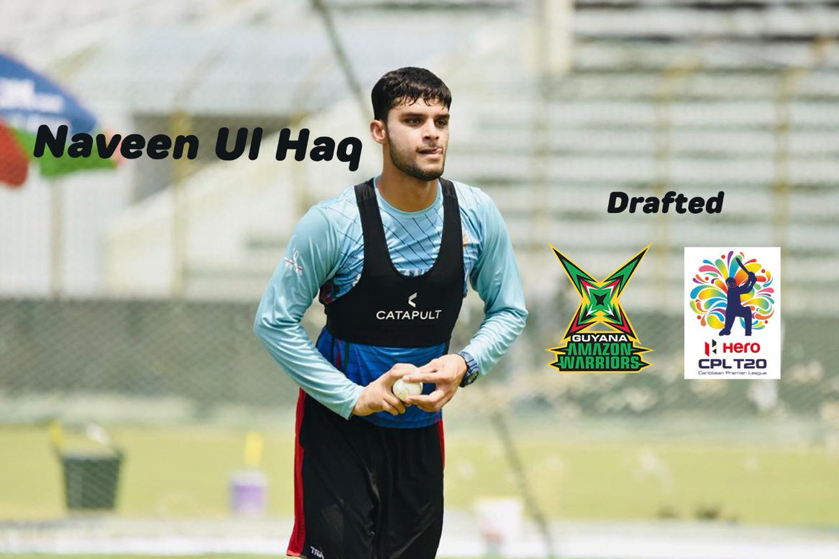 NAVEENUL HAQ - Spell it correct as this name will be making headlines @CPL . He's @imnaveenulhaq - fast,fierce & wildly charismatic 🔥🔥⭐️⭐️