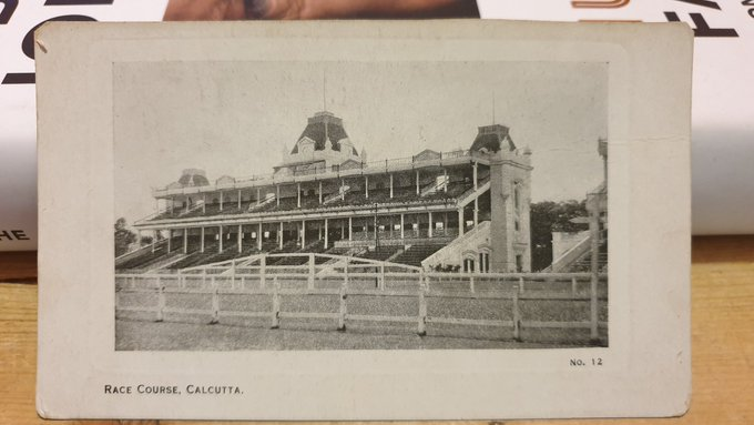 For followers with an interest in #India, here is a postcard of a the race course in Calcutta, now called Kolkata. The #postcard could be over 100 years old! You can see what was written on the back.... #IFMPC #deltiology #IncredibleIndia #postcards #HorseRacing #HorseRacingTips!pic.twitter.com/KB163OOz7K