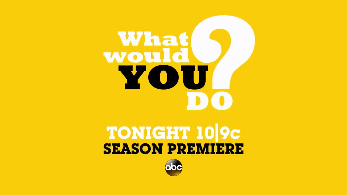TONIGHT: #WWYD is back with an ALL-NEW season! Don't miss the uplifting premiere tonight at 10|9c on ABC. https://t.co/5lrn4otLnw