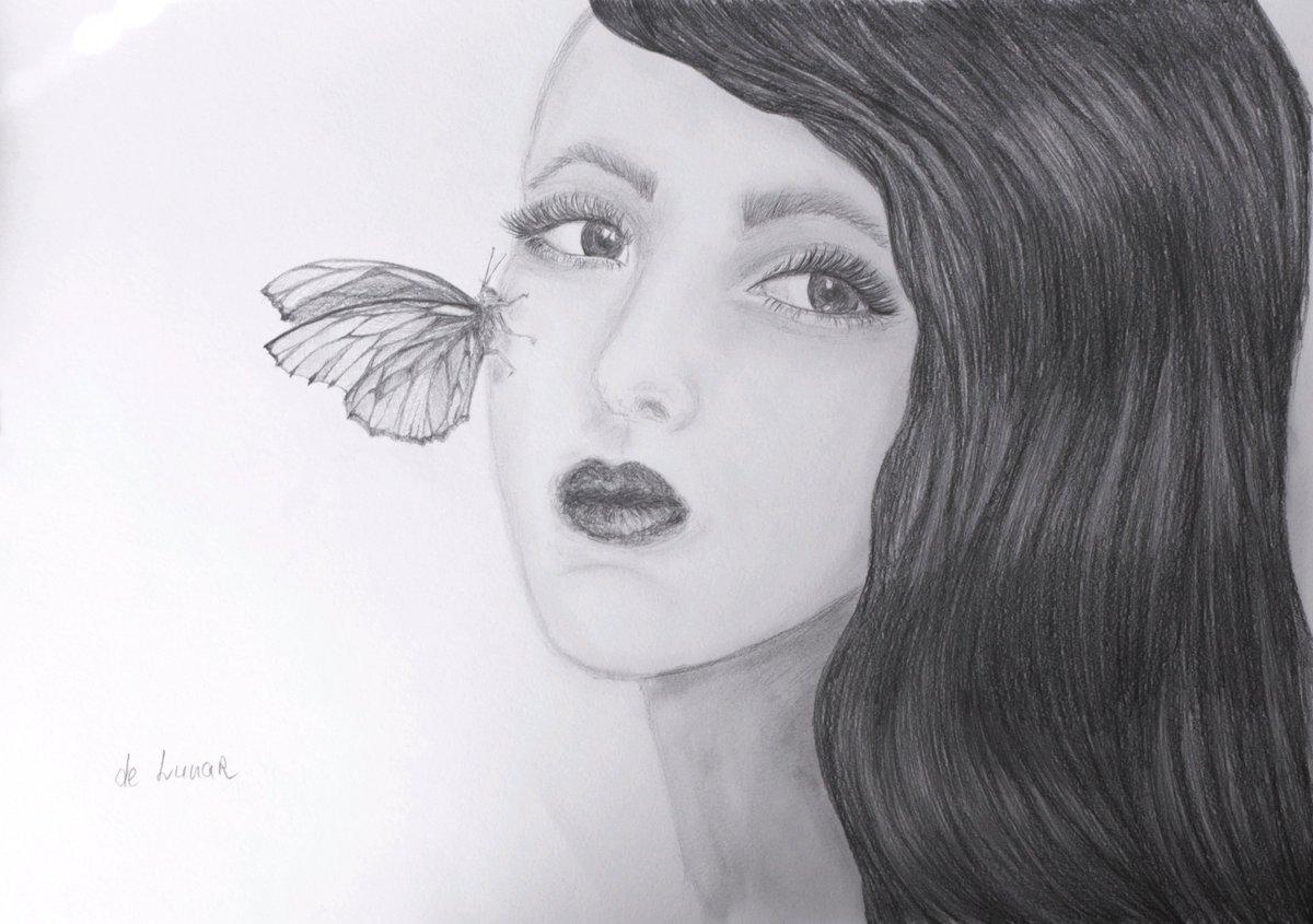 #art #artist #veronikadelunar #Pencildrawing #pencilsketch #butterfly #portrait #myart #newartist  #newart #sketch #drawing #girlpic.twitter.com/pQoNNueGlH
