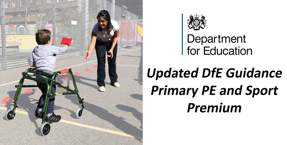 RT @afPE_PE: Updated DfE guidance on the Primary PE and Sport Premium ⤵️ https://t.co/MK90YLHSyb