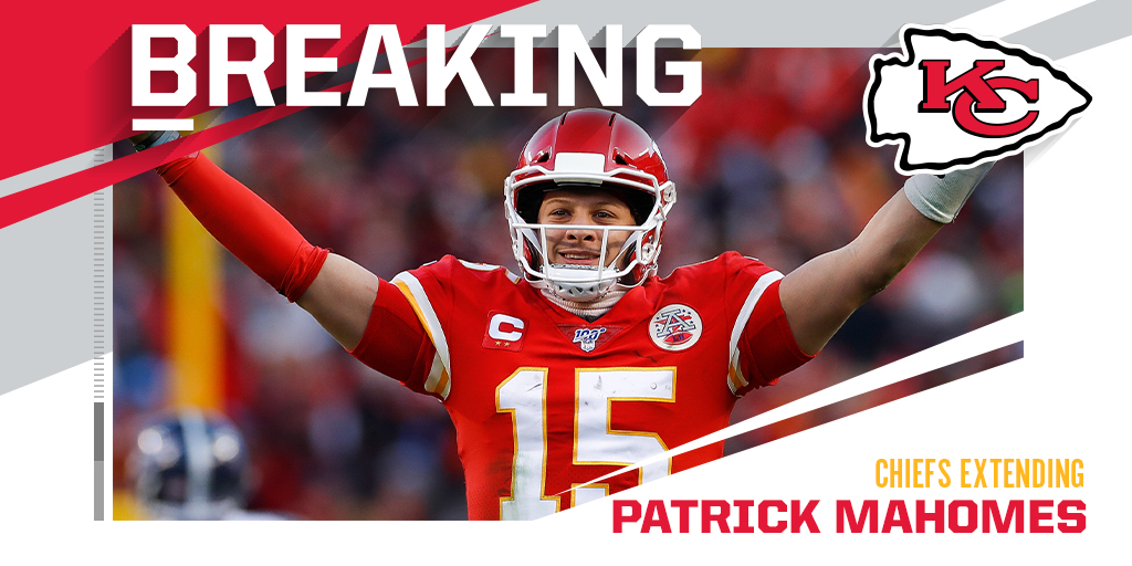 Chiefs, QB Patrick Mahomes agree to terms on 10-year deal. (via @MikeSilver) https://t.co/5uNdoM1OcW