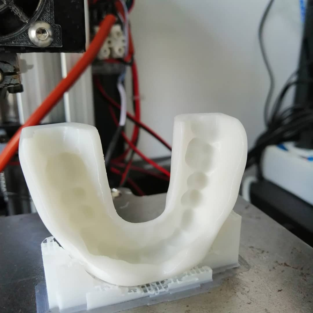 3d printed bite made by @Stampatreddi in BioFlex flexible filament. Would you print it?  @filoalfa BioFlex is a flexible filament, which comes from raw material with medical certification and antibacterial.    #filoalfa #3dprinting #filaments #tpe #tpu