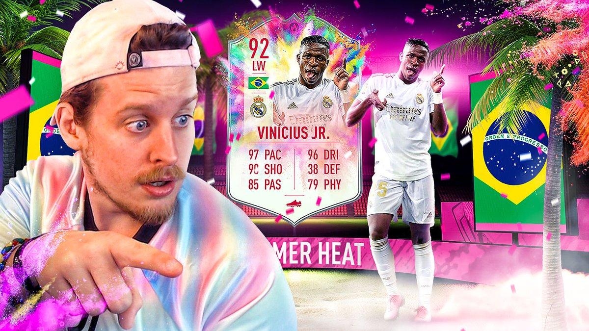 The BEST Summer Heat Showdown Set?  92 Summer Heat Vinícius José Paixão de Oliveira Júnior aka Vini Jr. aka the Guaranteed 95 upgrade Player Zweview! 👇 https://t.co/Rz7tRWAL9p https://t.co/BM7UXTa5g6