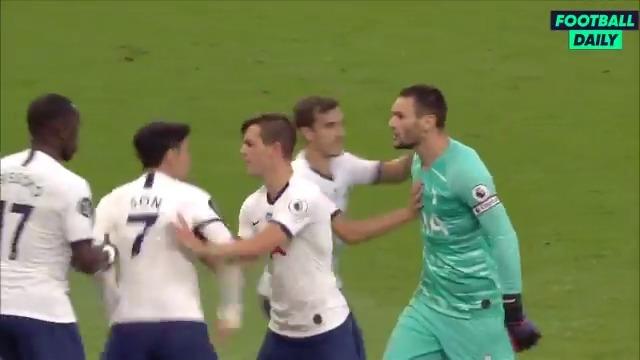 Jaurais jamais pensé voir une embrouille entre Lloris et Son, deux des joueurs les plus calmes dAngleterre 😅 Leffet Mourinho ? 😶