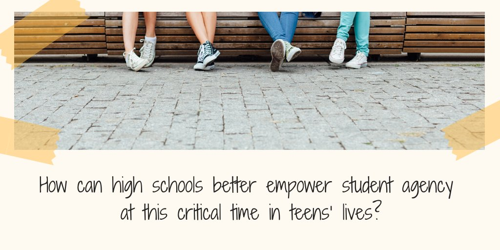 Find out how high schools can empower student agency at this critical time in teens' lives here: https://t.co/YKTauuLMmO @Asheru https://t.co/RqQY8x5cW2