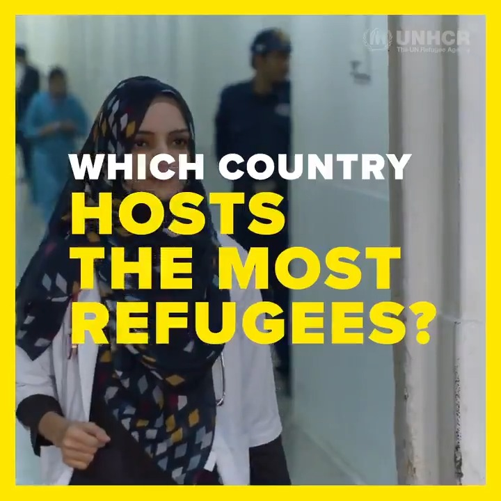 Millions of refugees have crossed borders to find safety.  Find out which countries have welcomed the most people and how our colleagues from @refugees are helping those forced to flee: