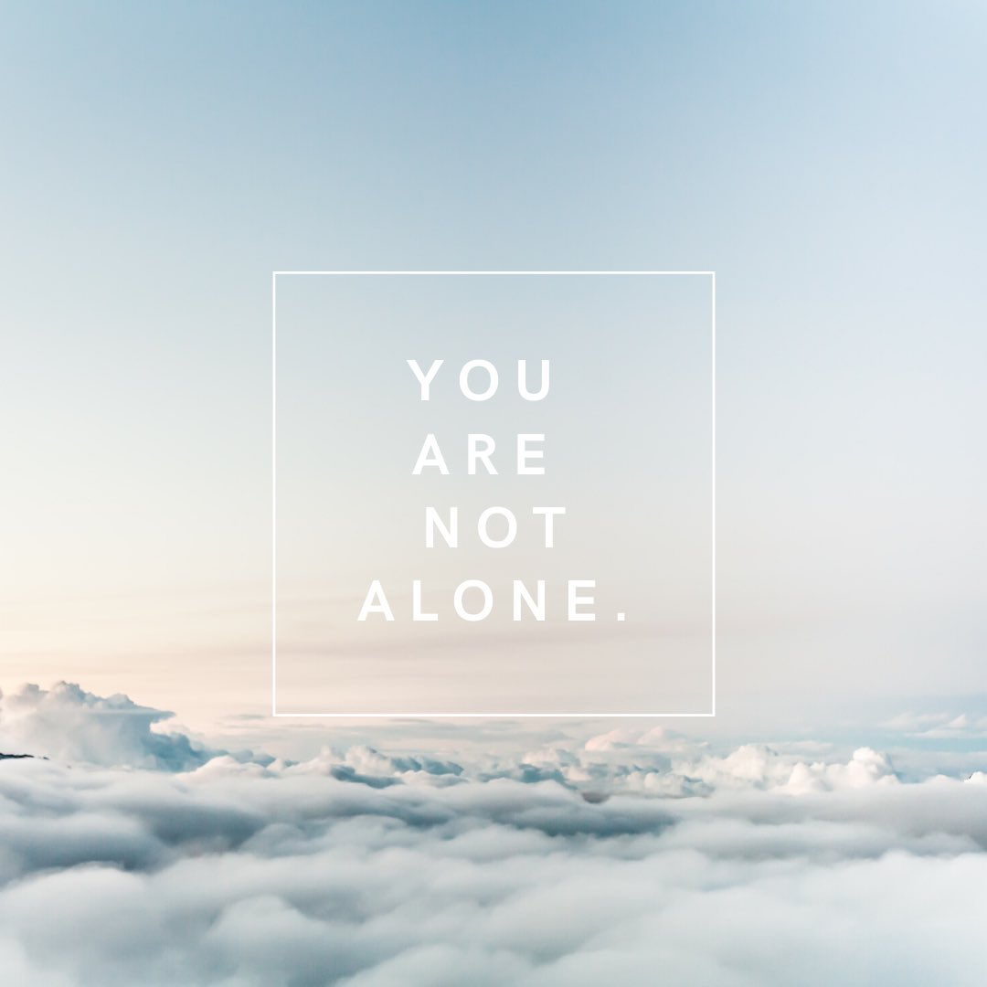 You are not alone. — Charlotte  #mentalhealth #loneliness #selflove #selfcare #depression #anxiety https://t.co/seKcNq0m2D