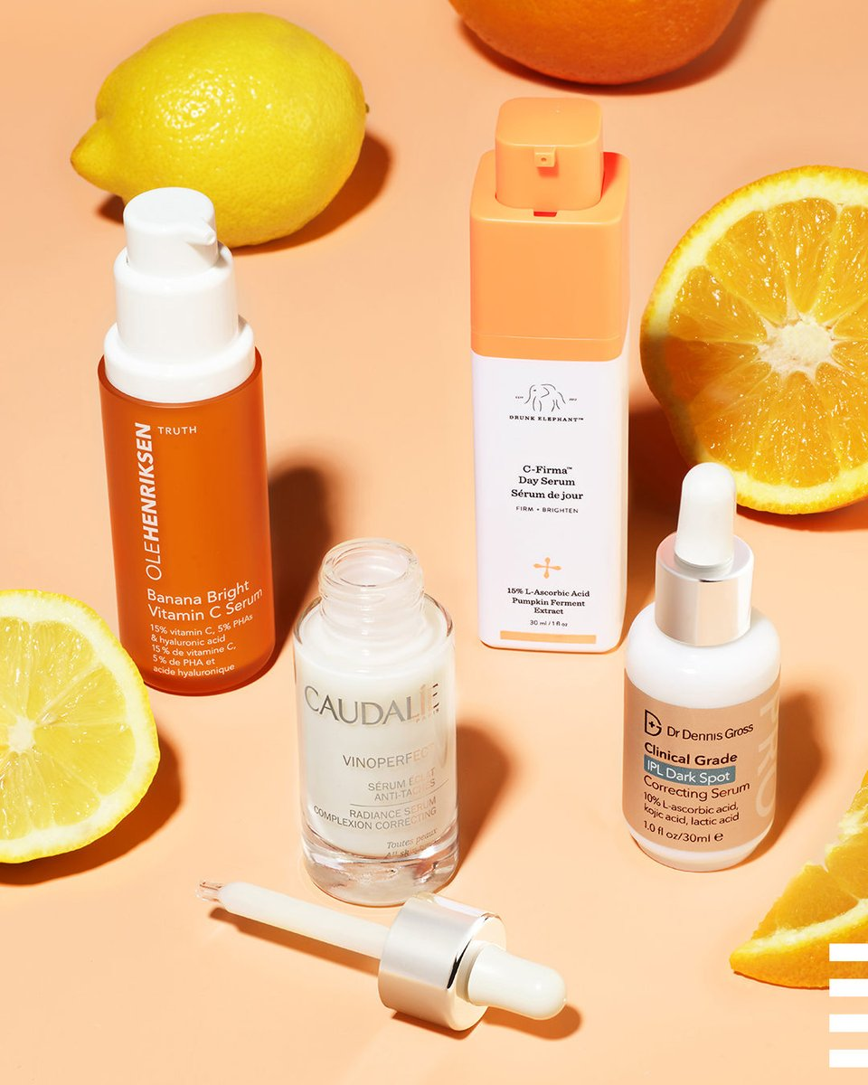Meet the brightening squad ☀️ They're here to knock out the appearance of dark spots one complexion at a time 🍋🍊Which one belongs on your shelf? https://t.co/zD2iP763GP … @olehenriksen Caudalie @mydrunkelephant Dr. Dennis Gross https://t.co/mfJs0qgnKA
