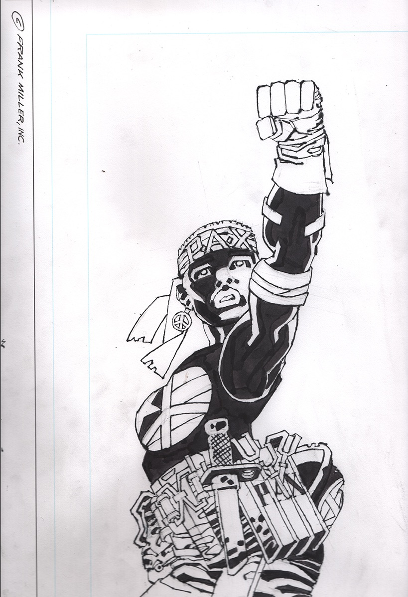 #MarthaArtAuctions conclude! Sixth (and last) up is this new, unpublished Martha Washington original art from Frank Miller. 100% of proceeds go to #NAACP Auction ends Saturday July 11th9:00pm UK/4:00pm EDT/1:00pm  PDThttps://t.co/DM8iuEJ7w2 https://t.co/5GcjPAEh9L