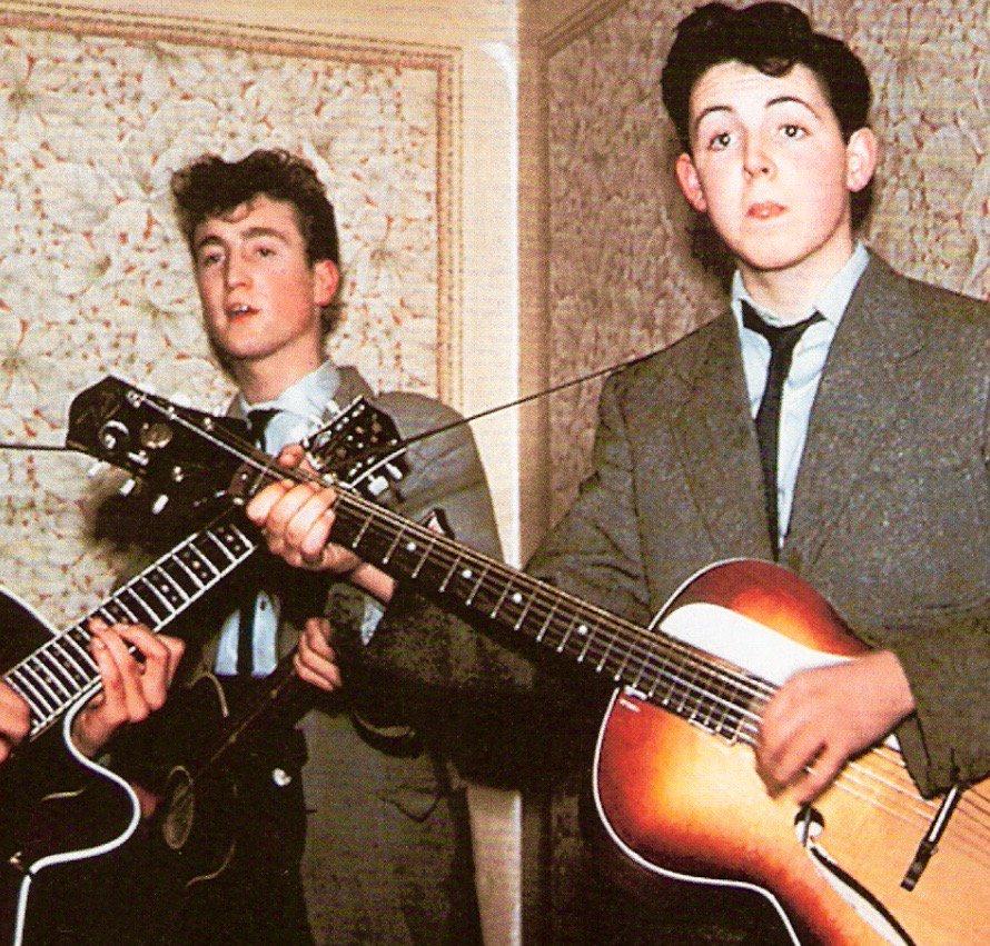 Lennon met McCartney today 1957: