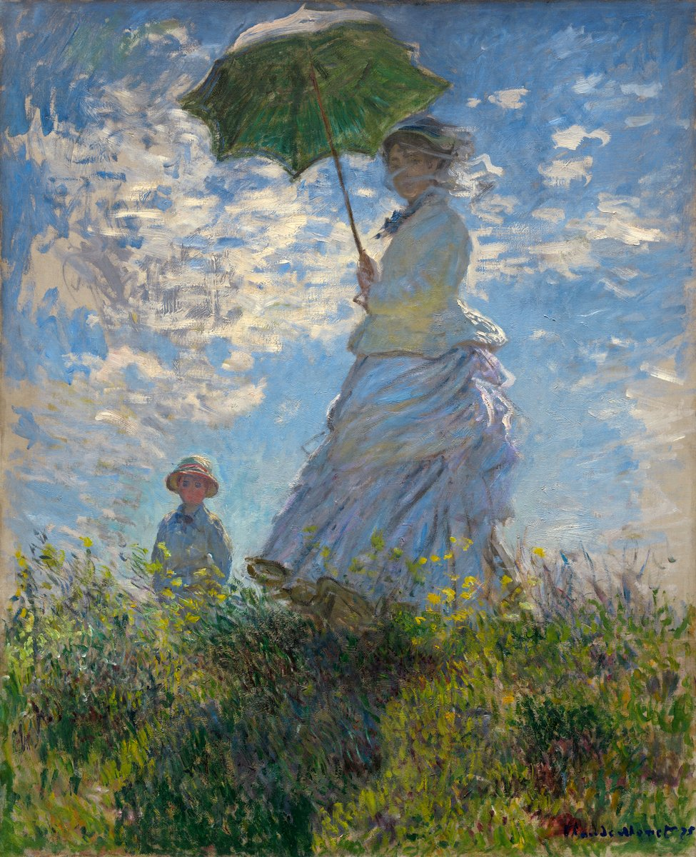 The Promenade, Woman with a Parasol, 1875 #frenchart #impressionism https://t.co/5EqJrc51c6