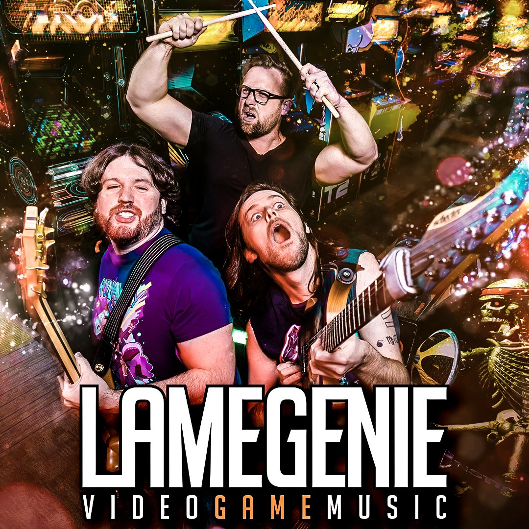 Sup, Kidz™. If youre checking out our show this Saturday you should know about @LameGenieVGM. Lame Genie has been a video game cover band since 2014, releasing 12+ albums in completely for free on bandcamp. Great fuckin bio. Aces, bois. #BonusStageVan #LameGenie #VGM