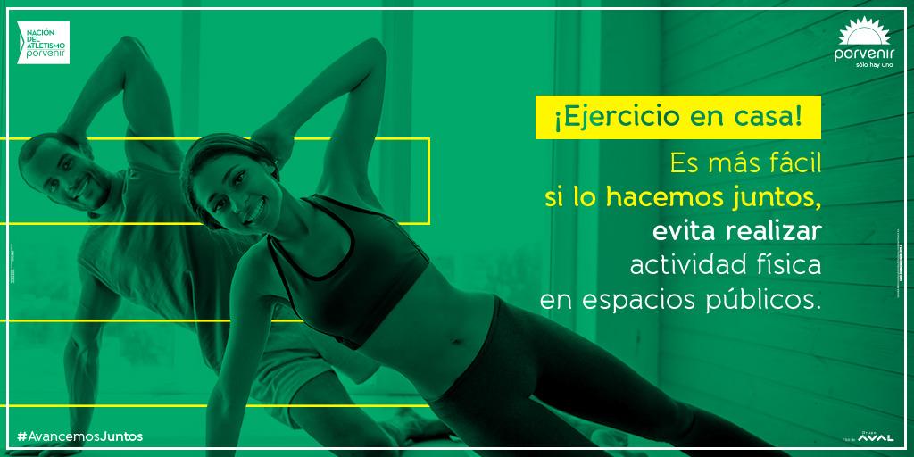 Se permite salir hacer ejercicio🏃♀️ por espacio de 2 horas; sin embargo, te recomendamos que todo aquel ejercicio que quieras realizar, lo hagas en casa.🏠 #YoEntrenoEnCasa #YoMeQuedoEnCasa #AvancemosJuntos https://t.co/FiwADehe9h