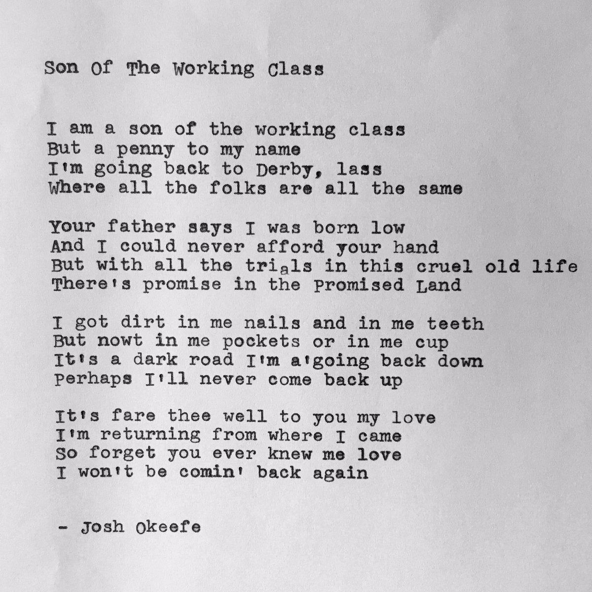 """Son Of The Working Class 🔨  Watch tha video n listen to """"Bloomin' Josh Okeefe"""": https://t.co/RAKfNu3xXU https://t.co/mFCNW7etz1"""