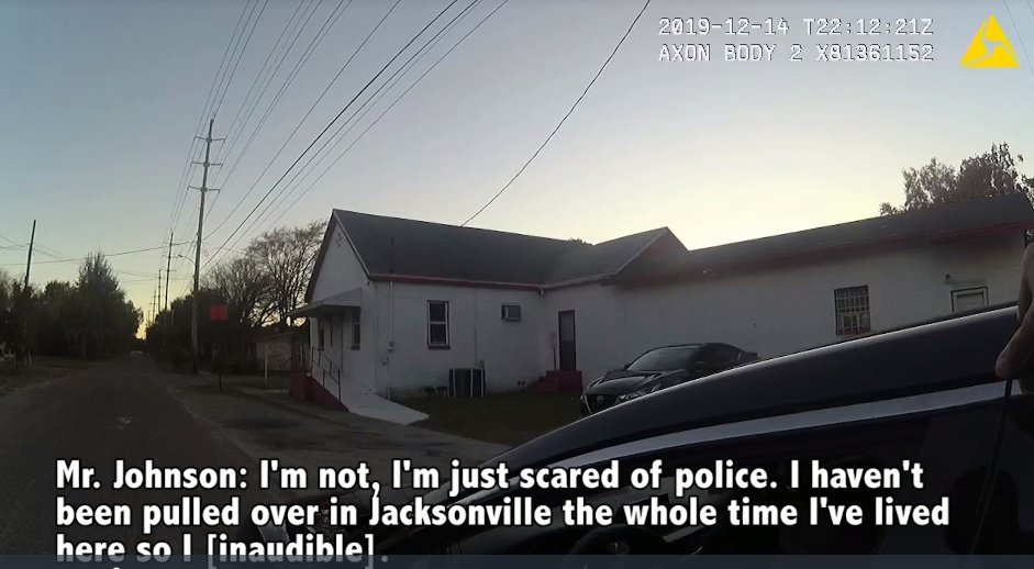 The officer who pulled #JameeJohnson over asked him why he was acting nervous. Johnson's response: https://t.co/DCNmmagfgR