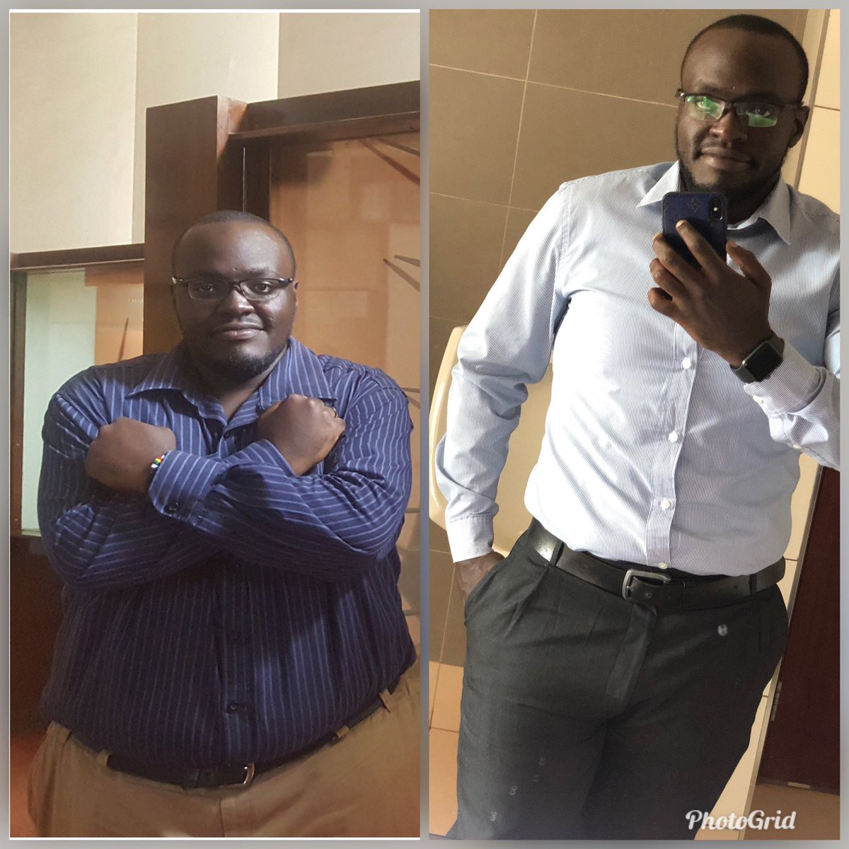 2018 vs 2020. This shit ain't easy. I'm truly blessed to have come this far. I'm not done yet #weightloss #fitnessjourney pic.twitter.com/tLUjHU8gq8