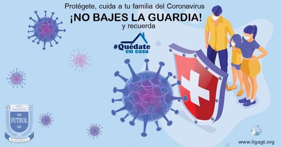 #COVID19🦠 | Sigue las recomendaciones sanitarias y protege a tu familia. Cuídate para evitar la propagación del CORONAVIRUS.  ¡NO BAJES LA GUARDIA!   #JuntosVenceremosAlCoronavirus💪 #YoMeQuedoEnCasa🏠 #VamosGuatemala🇬🇹 https://t.co/IUcbAIrXV3