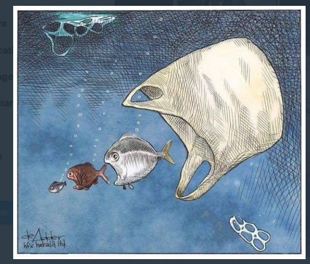 Thank you @deAdder for this important drawing! Plastics in the ocean have a deadly and devastating effect on wildlife.  Let's reduce our use of single use plastics and the amount that enters the ocean. https://t.co/RbLvKB33rS