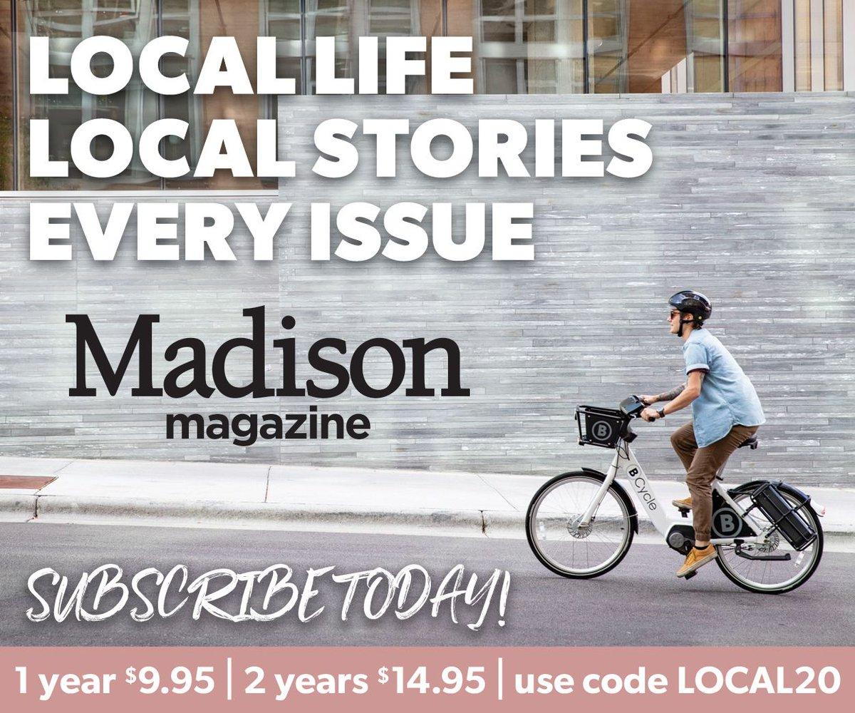 SUBSCRIBE TODAY: For a limited time get a year of Madison Magazine for $9.95 or two years of the magazine for $14.95. buff.ly/2GBg2hi
