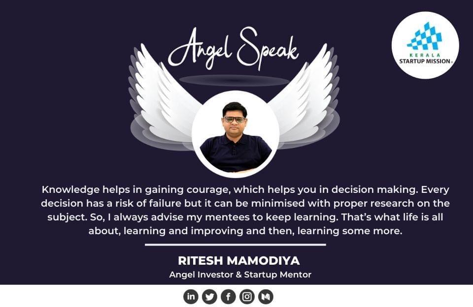#KSUM #AngelSpeak #KSUMAngelSpeak #Kerala #Startup #entrepreneur #Startups #MondayWisdom #Team #Founder #BreakTheChain #Corona #CoronaVirus #Covid19 #Investor #MondayMotivation #mondaythoughts #Learn https://t.co/2S538B2PTD