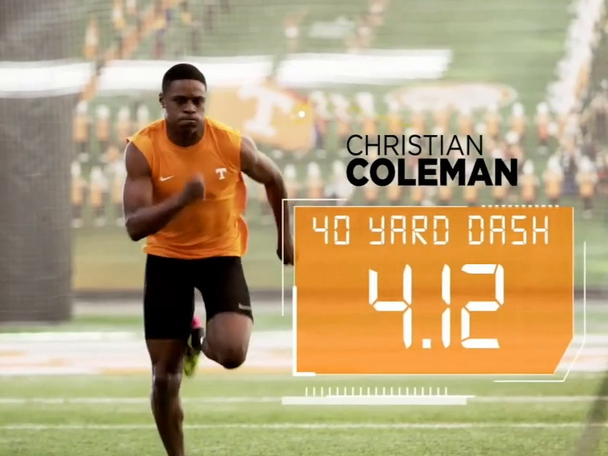4️⃣.1️⃣2️⃣ 🔥🔥  The fastest 40 time in NFL draft history is 4.22. Take it away @__coleman ... https://t.co/DWQyGGMHII