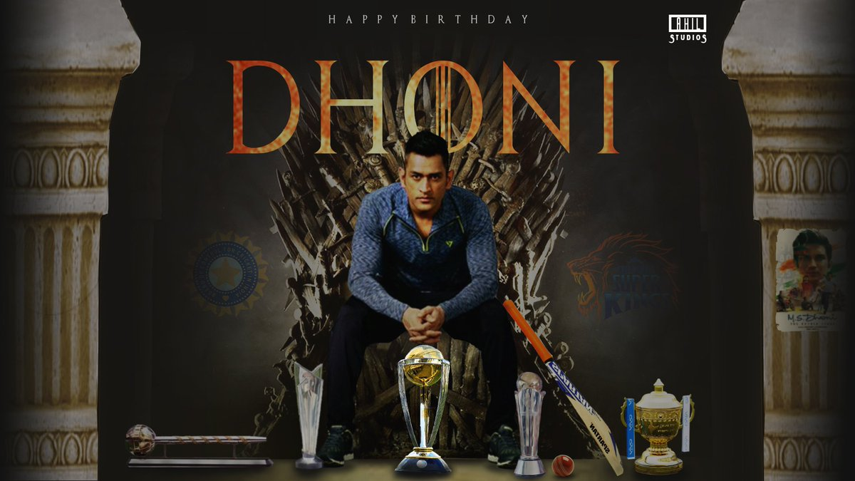 Happy Birthday!!! To Greatest Finisher of All Time!!! May God richly bless you  and grant the wishes of your heart. #MSDhoni #HappyBirthdayDhoni #ThalaDhoni #CaptainCool #ChennaiSuperKings #WhistlePodu <br>http://pic.twitter.com/U4FbCAeSmc
