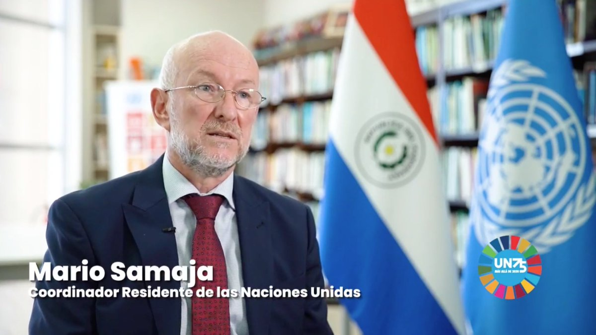 .@ONUParaguay participó en la Primera Feria Virtual del Libro con un especial de #UN75. Mario Samaja, Coordinador  Residente en Paraguay, explicó la labor de la ONU en el contexto de la pandemia y la oportunidad para trabajar juntos para un mundo mejor.  ➡️https://t.co/h4urbvXQKS https://t.co/MvUysR006F