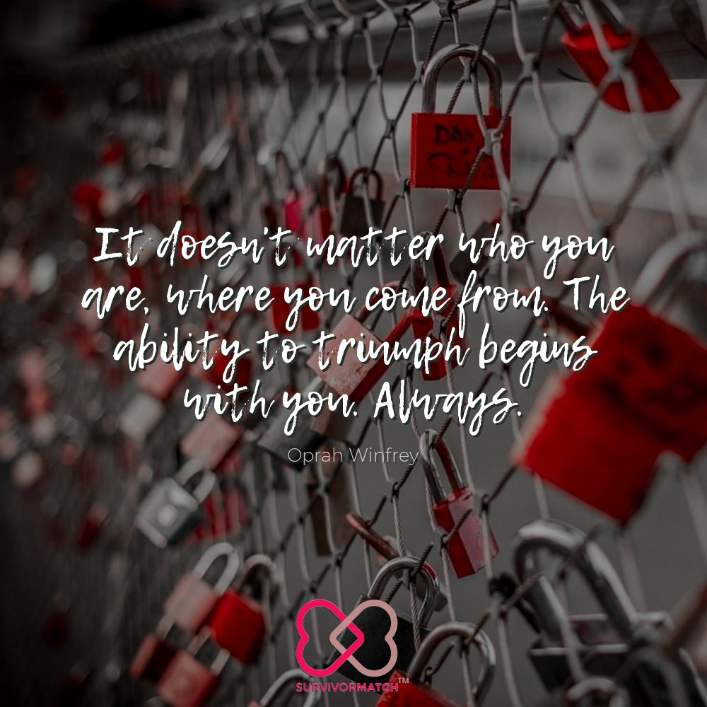"""It doesn't matter who you are, where you come from. The ability to triumph begins with you. Always.""  #motivationmonday #motivationmondays #friends #onlinedating #love #survivormatch #survivor #inspire #friendship #support #relationships #marriage #commitment #date #connection https://t.co/L5TOlkef8u"