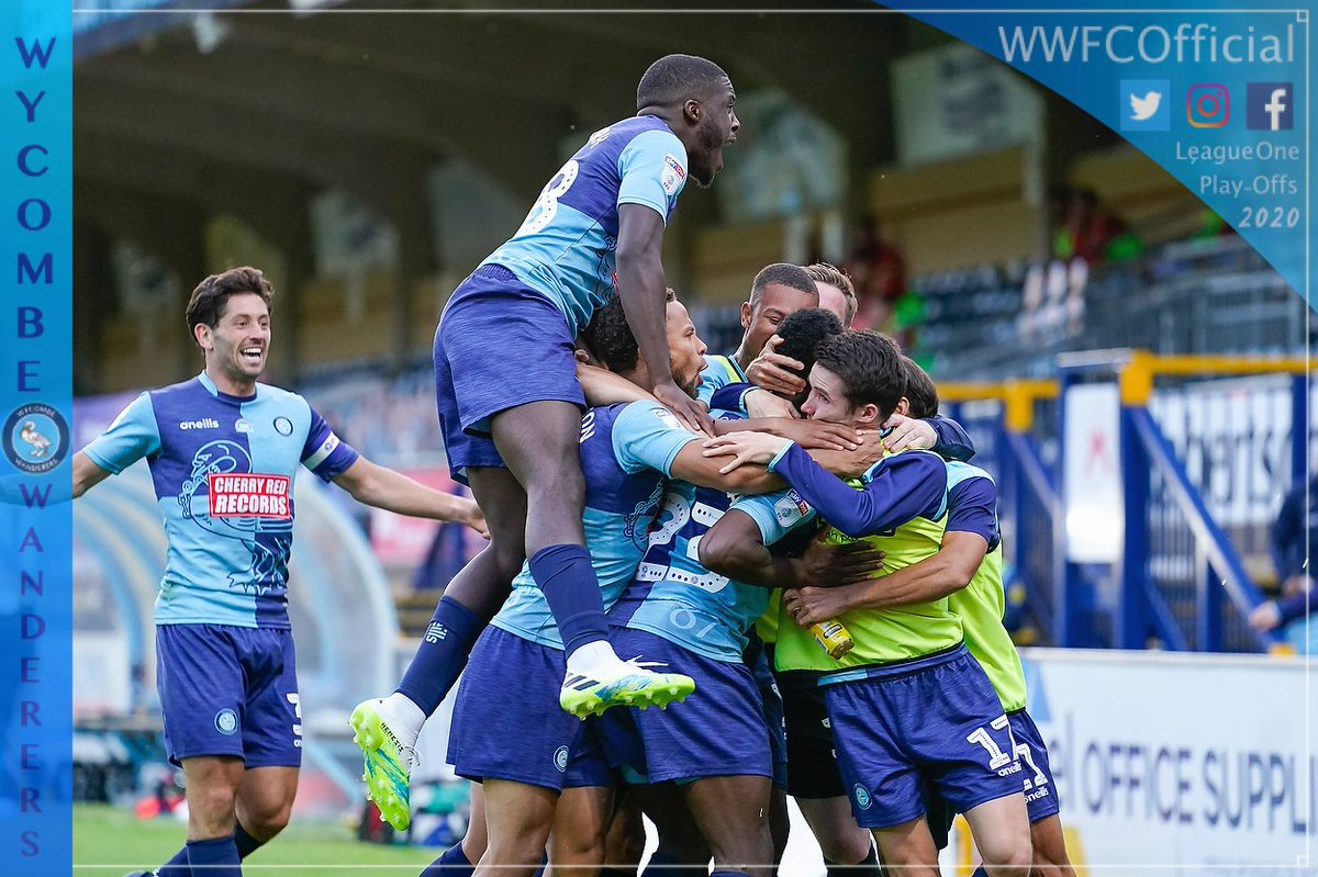 Replying to @wwfcofficial: FT: Wycombe 2-2 Fleetwood.  Wanderers win 6-3 on aggregate.  WE'RE OFF TO WEMBLEY!!!