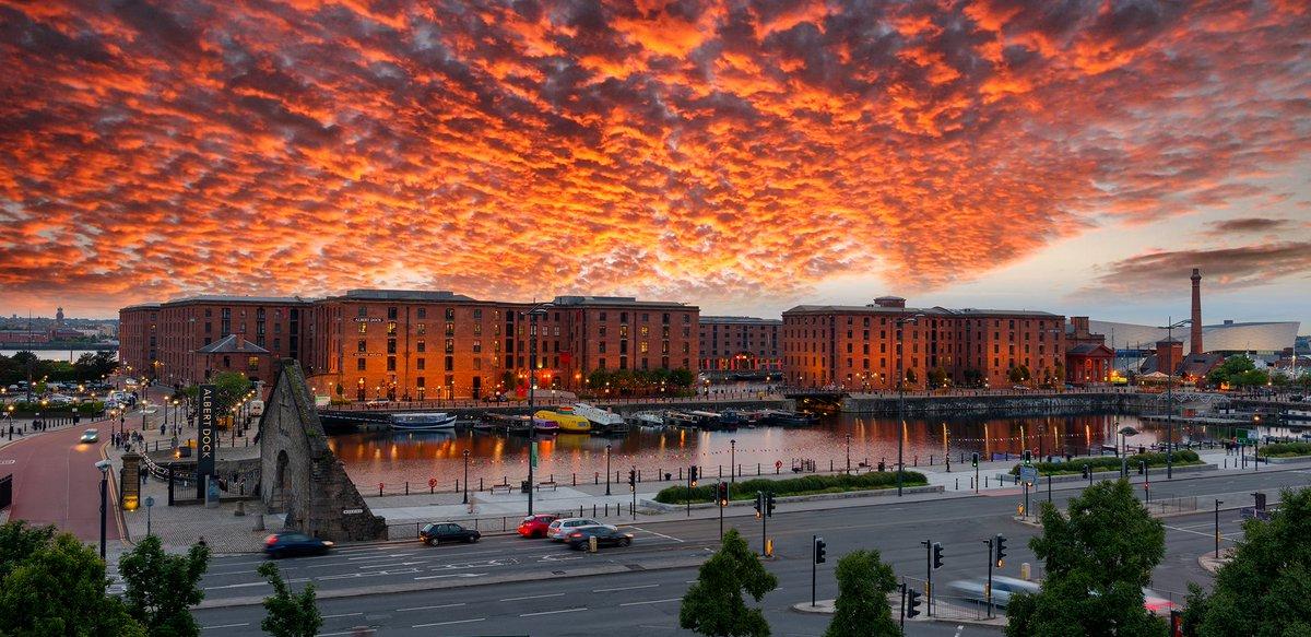Royal Albert Dock, #Liverpool at dusk.