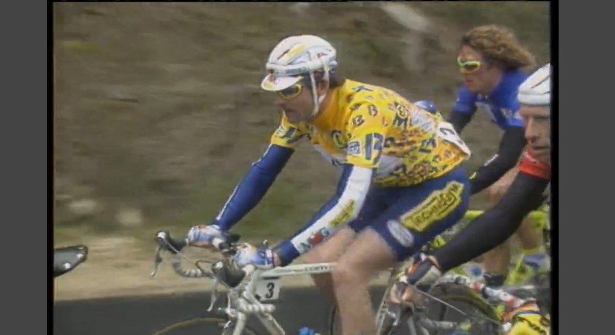Ferreti en el 94 hizo muchas fechorías con Lefevere en el Tour del Mediterráneo (agüita el quintuplete en Pierrefeu). Así que nada mejor a que Bugno en esta carrera se desvirgue de victorias con el equipo: general y etapas de Marsella y Mont Faron (CRI): https://t.co/tHYT4rG6sw