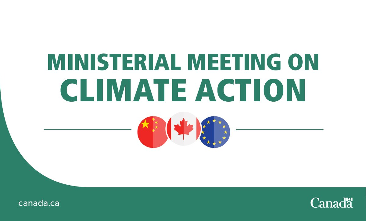 Canada co-leads ministerial meetings on #ClimateAction to keep up international momentum on reaching climate goals. Tomorrow's session will focus on green recovery from #COVID19 #MOCA4 https://t.co/6DOiRtaYVY