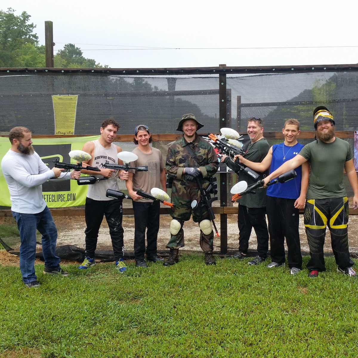 Finally. A part of the bachelor party you can tell your bride about.  With our proximity to the beaches, and breweries, Precision is your destination for paintball.   3 hour complete packages start at $30 per player.   #bachelorparty #paintball #precisionpaintball #throwback https://t.co/gBVxJPZP98