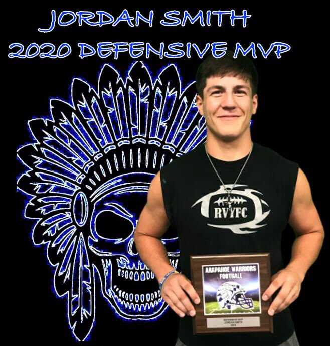 Jordan Smith was our 2019 Defensive MVP! Jordan played LB and DE. We are expecting Jordan to have an even better year in 2020 with the work he is putting in this off season! @JordanS74445828 #Tribe #BrAWarriorpic.twitter.com/kVO3B9kLZ2