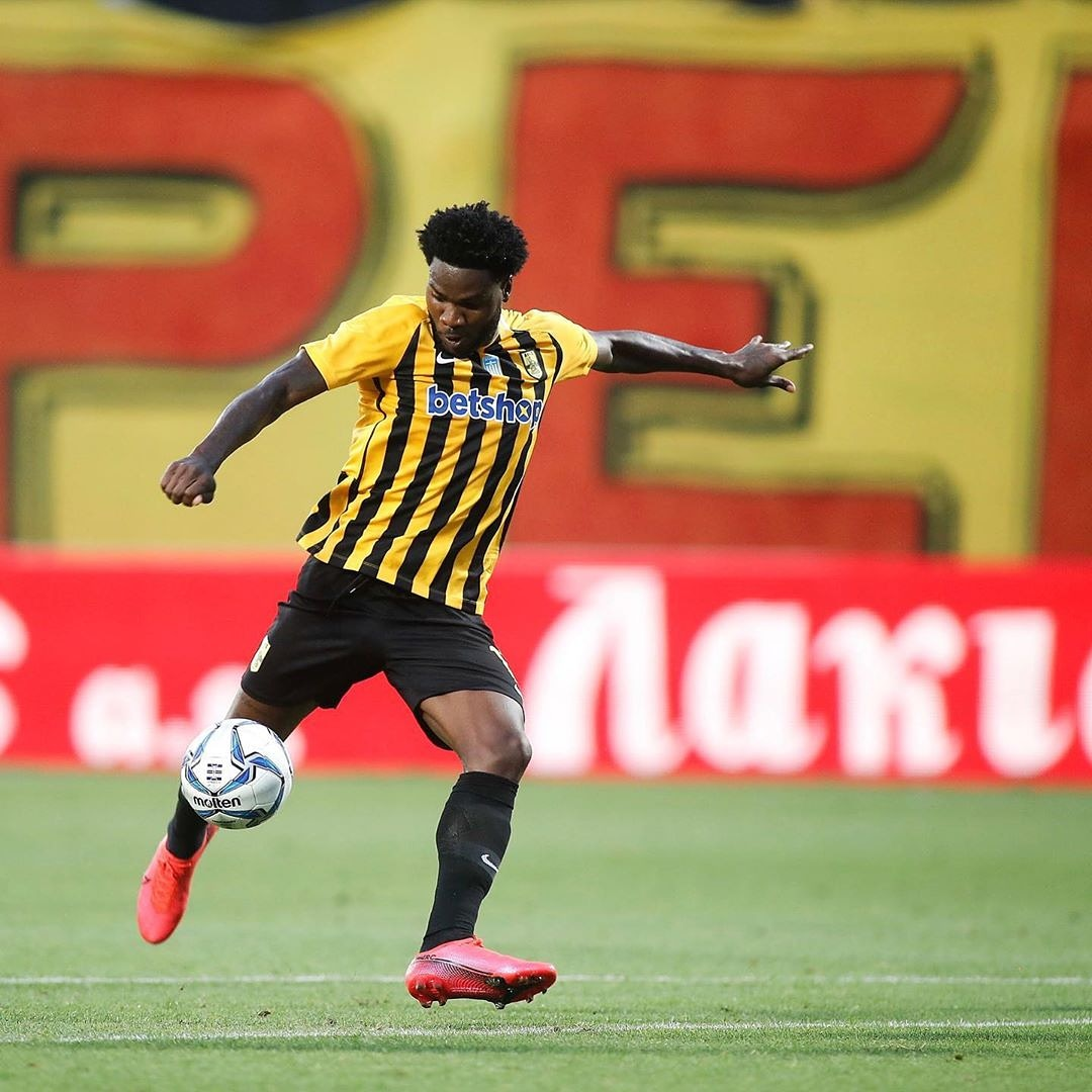 """Brown Ideye has announced his departure from Greek club Aris Thessaloniki.   """"Thank you @ARIS__FC for giving me the chance to be a part of ARIS family, to all the ARIS fans thanks a lot for making me feel I'm home, God Bless!!""""  Where should Brown Ideye play next?  #brilafm <br>http://pic.twitter.com/avRWYI8Dhh"""
