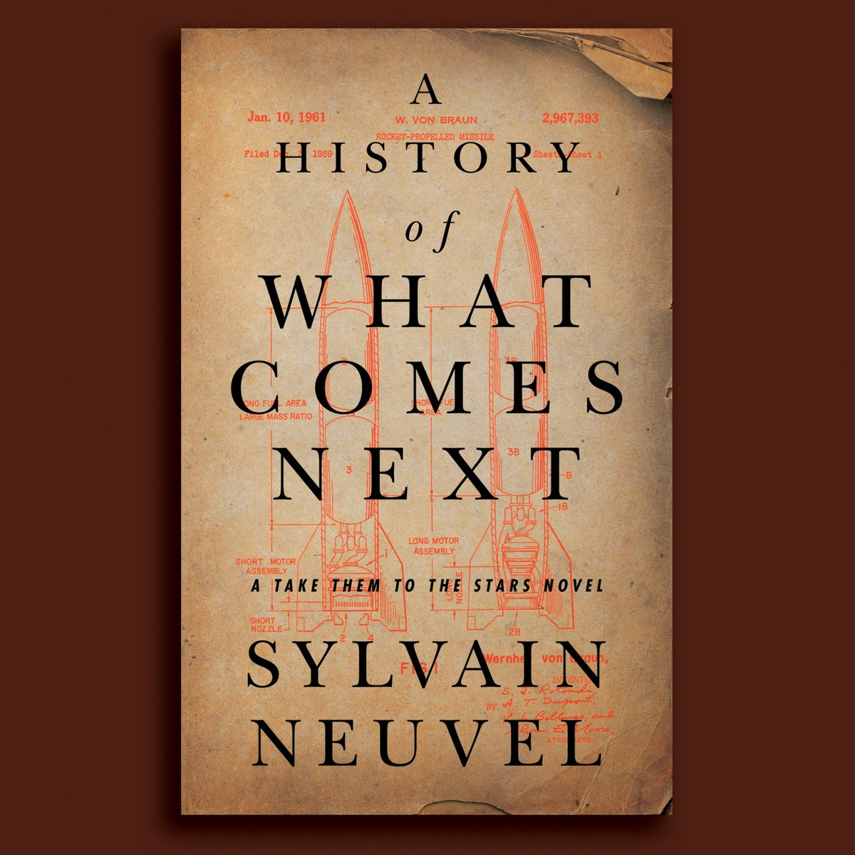 A HISTORY OF WHAT COMES NEXT by @neuvel blends a fast moving, darkly satirical look at 1940s rocketry with an exploration of the amorality of progress and the nature of violence. 🚀 https://t.co/ZqSbt7LeqS https://t.co/KbVm6pycJQ