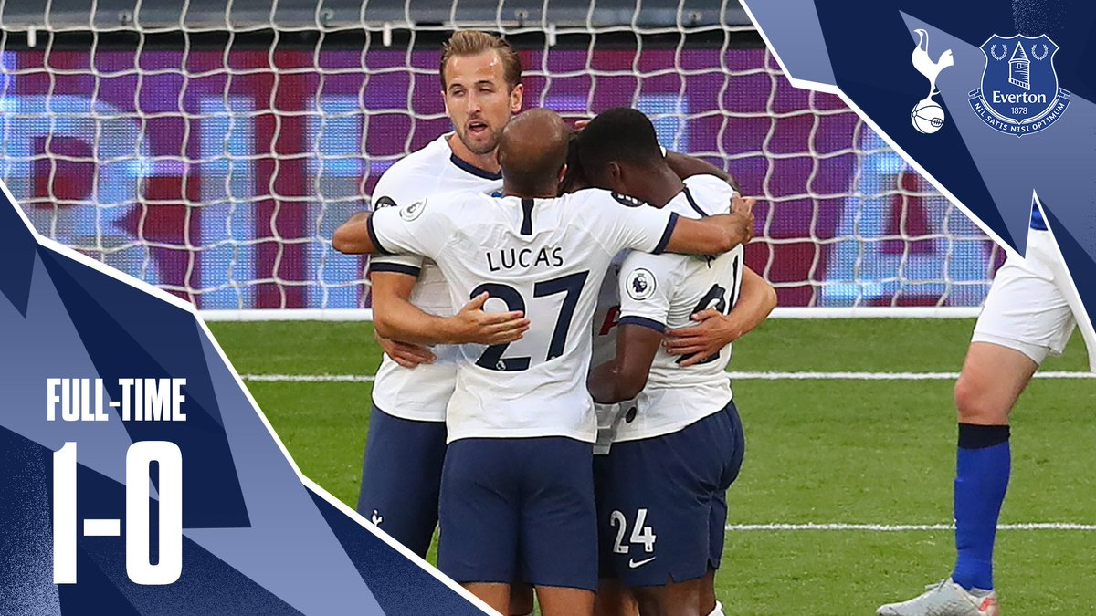 FULL-TIME: A first-half Everton own goal sees us take all three points.  ⚪ #THFC 1-0 #EFC 🔵 https://t.co/Urwqi6mEkn