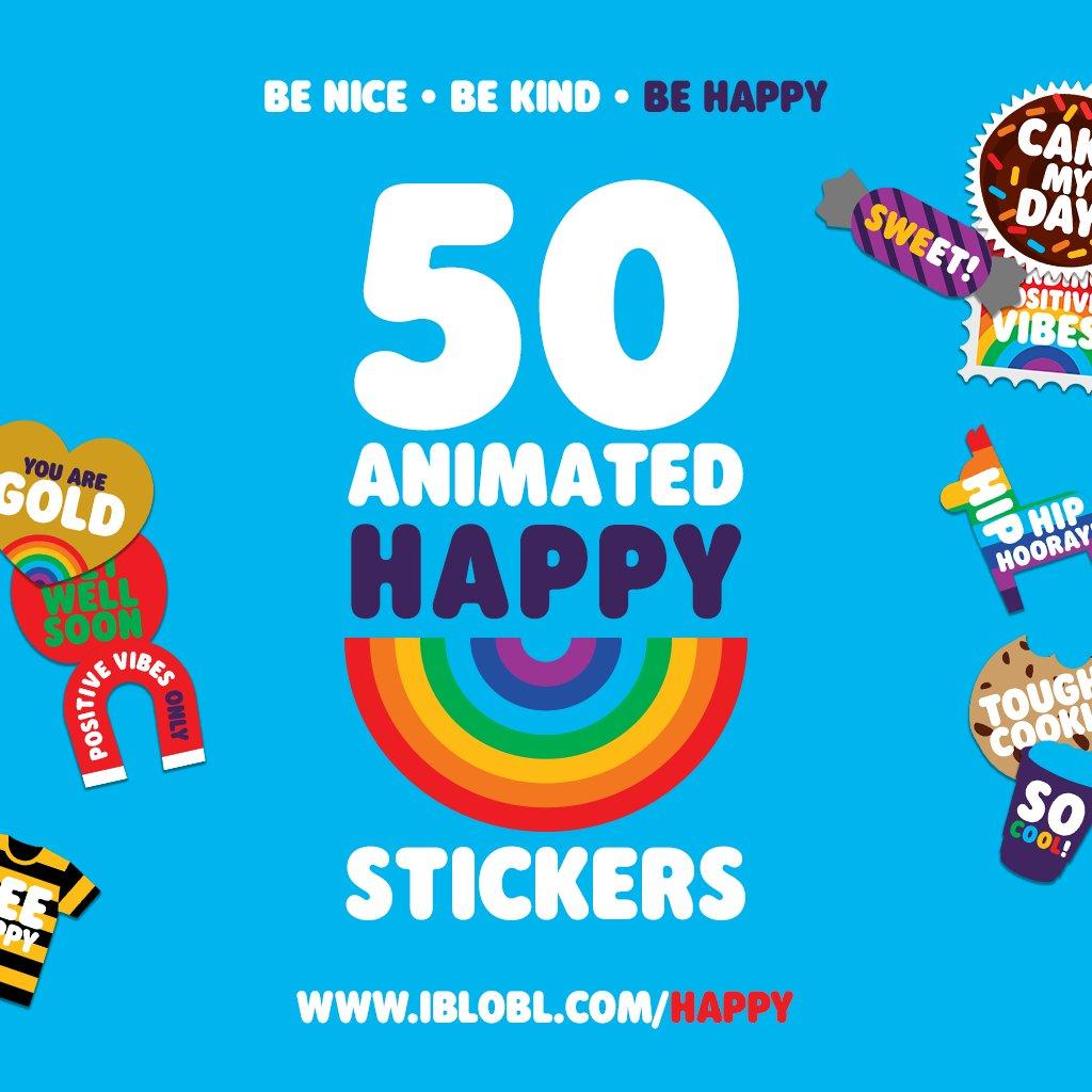 50 #Animated #Happy #Stickers! Spread the #Love! https://buff.ly/3dgsGyi  #Happiness #PositiveVibes #positivity #Positive #mentalhealth #iMessage #Message #Text #Apple #iOS #iPad #iPhone #iPod #MondayVibes #MondayMood #MondayMotivaton #Mondaypic.twitter.com/fytLnYtim3