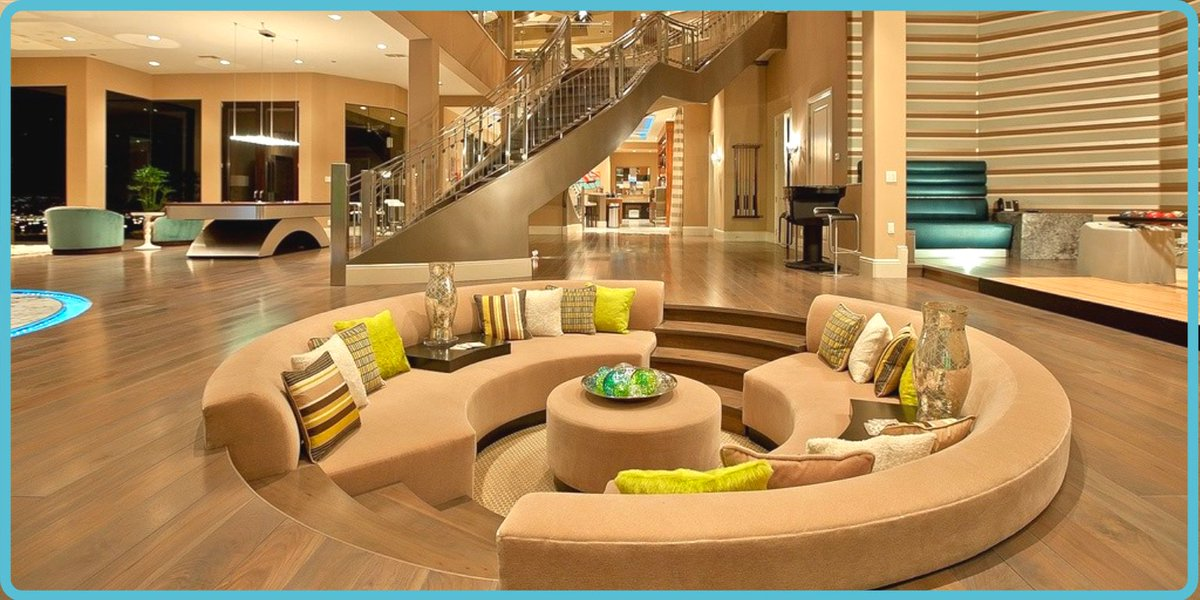 Popular in the 1970s, conversation pits are sunken areas of a room or outdoor space with built-in seating, offering a #comfy place for #entertaining!  Would you like to see these make a comeback?   #livingroom #conversationpit #luxurylifestyle   #mondaymood #MondayVibes pic.twitter.com/OHvv5cuBvs
