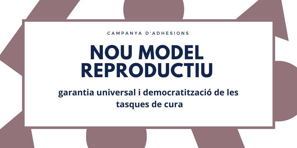📣 Reivindiquem un nou model reproductiu que garanteixi universalment i democratitzi les tasques de cura per la reproducció social i la dignitat de la vida.  Reivindiquem un pacte per una #EconomiaPerLaVida.  Adhereix-te! 👇🏽  https://t.co/iTVVvPAEBZ https://t.co/WsstGnKI7l