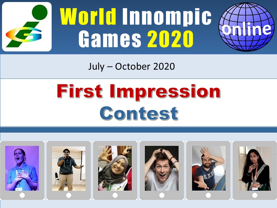Innompic FIRST IMPRESSION #online #contest is the only #firstimpression contest in the World.  Record your 30-second #video. If it is truly #impressive, you'll become World-famous and sought-after #star. It's a great #fun too! See details here:  https://t.co/5YJCJ90bRd The best! https://t.co/WFzcUCm7EK