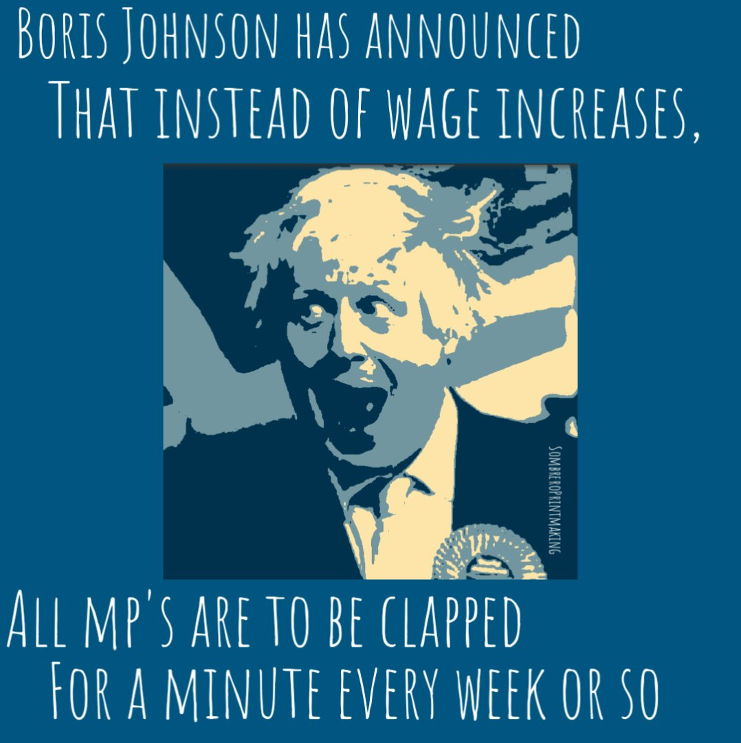 News just in from number 10.#boris #borisisasillyman #ToryLies #nhs #savethenhs https://t.co/VO7PuD8YaT