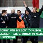 Image for the Tweet beginning: Riesen-Erleichterung beim #SVW! So reagieren