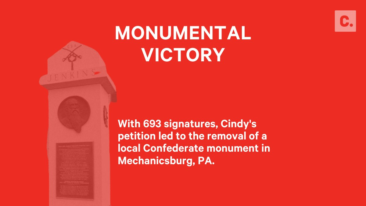 693 signatures later, Cindy's petition won.   It doesn't take millions of people to make change in your community: https://t.co/t5qYxBiN3g https://t.co/bH7QksPO4n