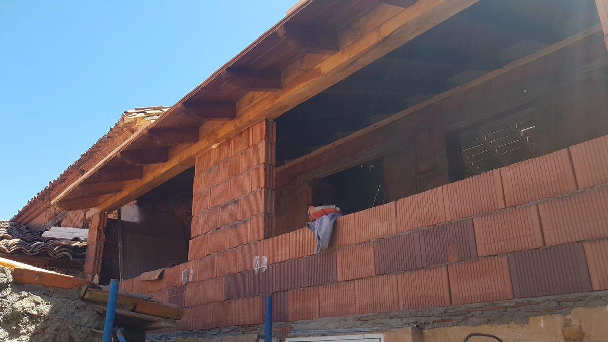 Alero de tejado en León