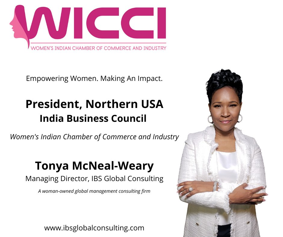 Congratulations to our Founder and Managing Director @tmcnealweary for being appointed President, Northern USA - India Business Council of @wicciindia #ThinkGlobal #India #Business #WICCI #WomenChamber #Women #Entrepreneurs #WomeninBusiness #Global #Business #International #Trade https://t.co/ABkOyfMqck